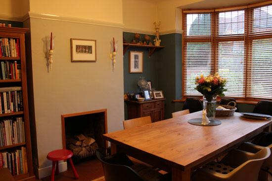 O家ダイニングルーム 作品たちをひとつの部屋にまとめて飾って楽しんでいるそうです。