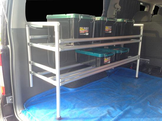 キャラバン NV350 トランポ キャリア ラック 棚 職人棚