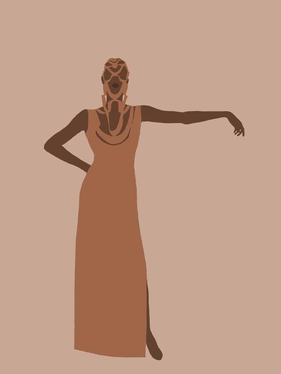 Markus Ehrhard entwirft ein Kleid für Grace Jones