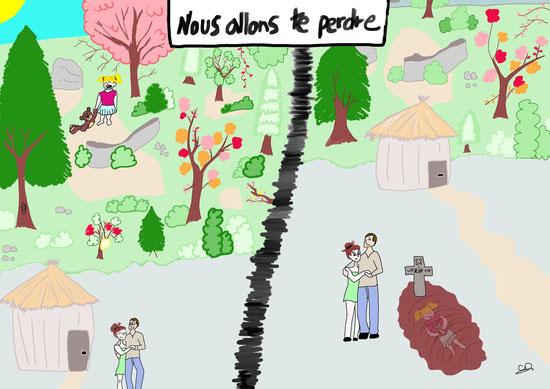 Illustration et coloriage de CarolineD en version numérique, Scénario de Joellecm