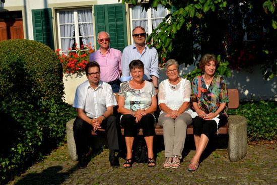 v.l.nr. Dani Grob, Fridolin Kloter, Rita Hanselmann, August Schubiger, Nelly Albiez, Lisbeth Burgherr