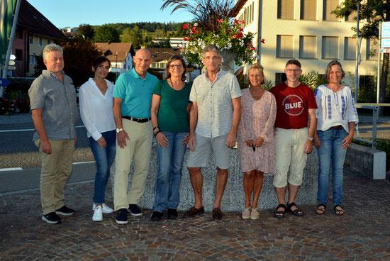 v.l.nr. Reto Walther, Andrea Schneider, Viola Suter, Michèle Wyss, Monika Obertüfer, Diana Manieri, Werner Wismer