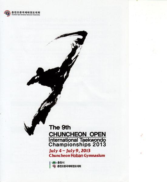 The 9th CHUNCHEN OPEN International Taekwondo Chanmpionships 2013