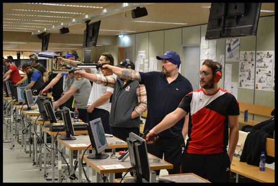2.v.r. - Ceric Udo bei der Landesmeisterschaft 2017  im Landessportzentrum Dornbirn