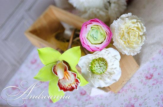 Чайная ложечка с цветком (цветок на Ваш выбор) стоимость 500грн