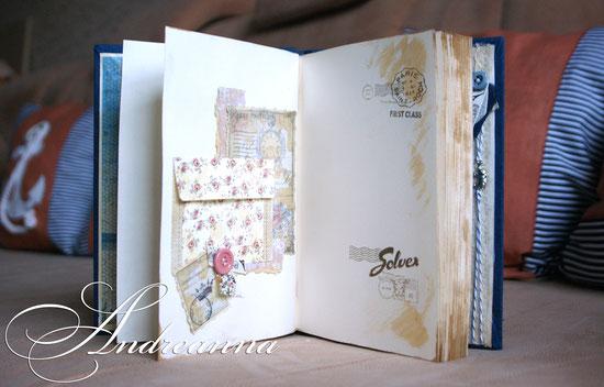 Блокнот в фирменном стиле, для тур. фирмы Solvex, натуральные материалы, элементы декора ручной работы, формат 22х16см. кармашек, в винтажном стиле, для визиток. стоимость 350грн (45 долларов).