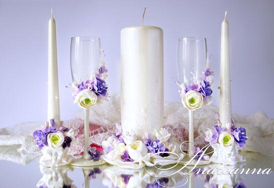 Свечи из серии «Жемчужная фрезия и гардения» (ранункулюс, гортензия, эустома – цветочки ручной работы, возможно изготовление в любом желаемом цветовом решение, с желаемым набором цветов. Стоимость пары 650грн