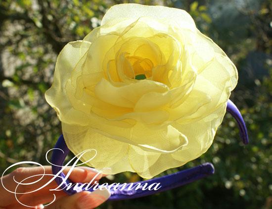 Ободок с цветком ручной работы «шелковый цветок», стоимость 350грн, выполнение в любом цветовом решение.