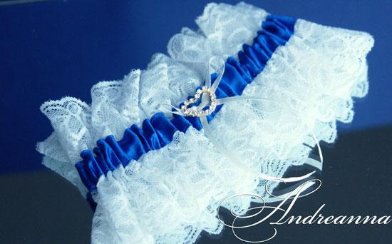 """Подвязка """"Moulin Rouge"""" белый и синий  стоимость 150 грн (в любом цвете)."""