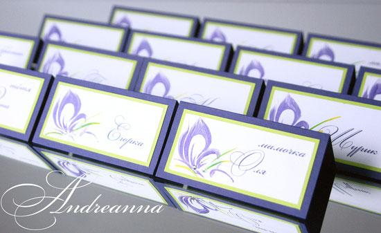 """Рассадочные карточки """"Butterflies""""  15грн/шт. ручная роспись (в любом цвете)."""
