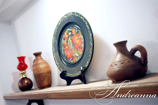 покутская керамика, роспись тарелок ручной работы