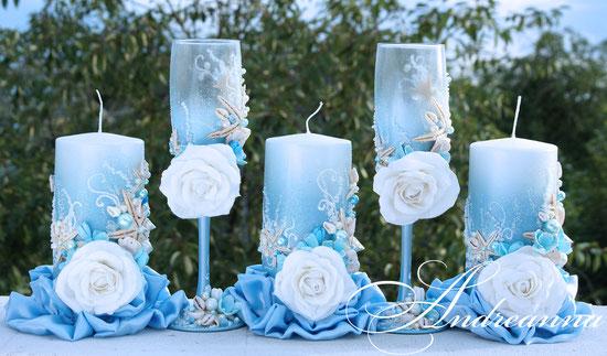 Свеча «Морская роза» 1 большая  стоимость 400грн, в любом желаемом цветовом решение. (набор для семейного очага 650грн).