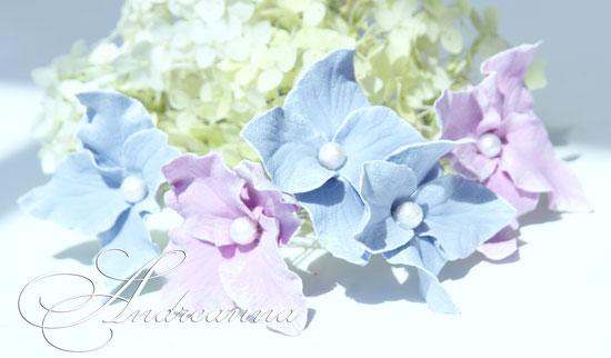 Цветочки гортензии для волос (невидимки, шпильки –на выбор) в любом желаемом цвете. Стоимость 35грн/шт.