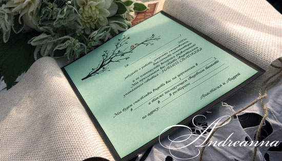 Винтажная пригласительная с камеей ручной работы, мешковина, именной текст для каждого гостя. Стоимость 45грн/шт. 6 долларов