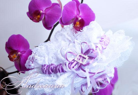 """Подвязка """"Moulin Rouge"""" белый и фуксия  стоимость 150 грн (в любом цвете)."""