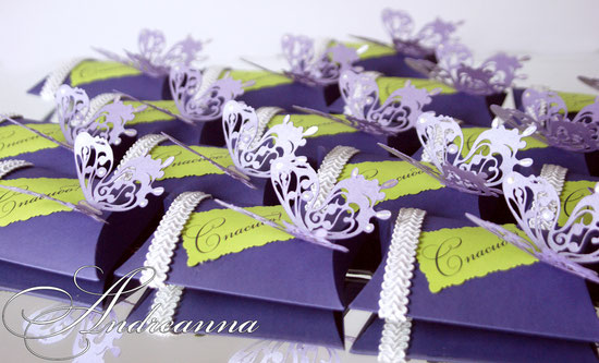 бонбоньрка с благодарностью Butterflies (в любом цвете, с желаемыми деталями), стоимость упаковочки 15 грн
