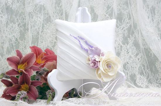 Подушечка для колец «Грани любви» (в любом цветовом решение) стоимость 450грн