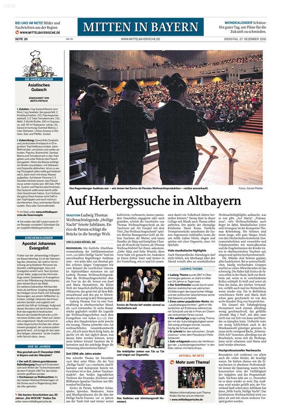 Mittelbayerische v. 27.12.2016