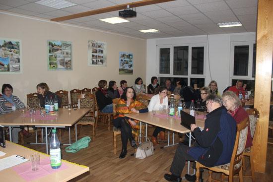 Das Publikum zur Lesung in Nazzas Bibliothek 12. Januar 2016