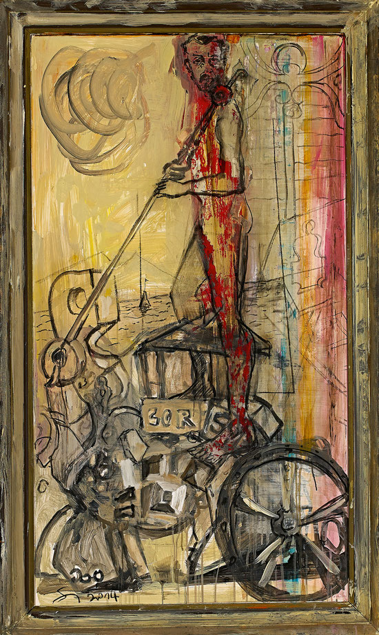 Hirte · 2014 · 800 x 1.600 mm · Öl auf Pappe