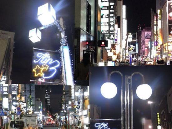 錦三商店街街路灯LED化