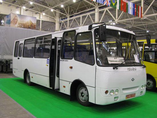 Пригородный автобус малого класса Богдан A093.12. TIR-2010. Фото Ольги Москалевой