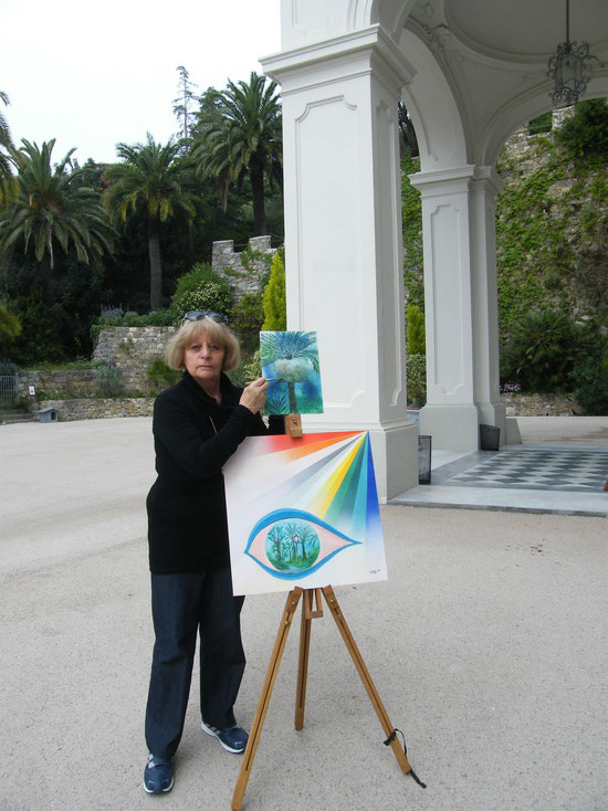 Painting in Bordighera, April 25 2014