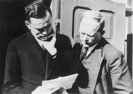Bethge and Bonhoeffer getting stuck into the first DBCL Newsletter