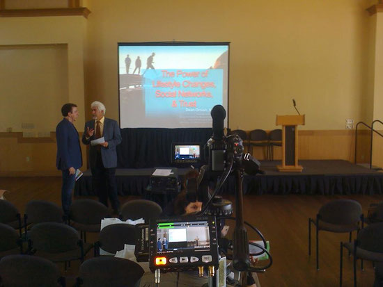 Technical Direction of The 1st Annual Marin Healthy Palooza, 2013. This A/V set-up for the main rooms projections on our 7k Lumen projector/10-foot screen package