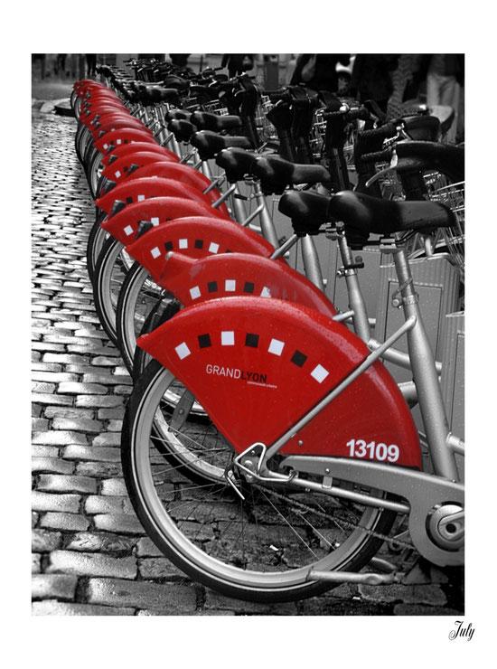 Vélo'V, Place Saint-Jean. Lyon