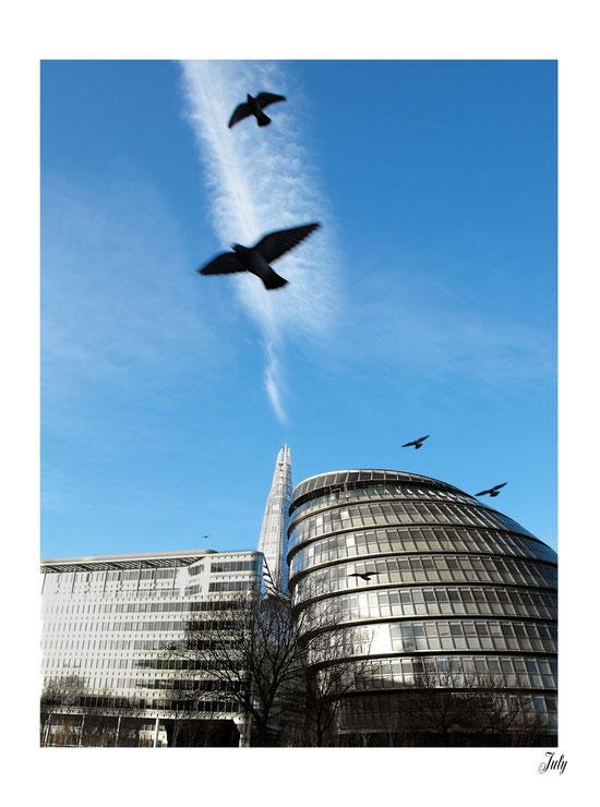 City Hall and The Shard. London
