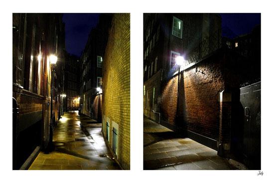 Etroite ruelle sans nom... Entre Basil Street et Brompton Road, Knightsbridge. London
