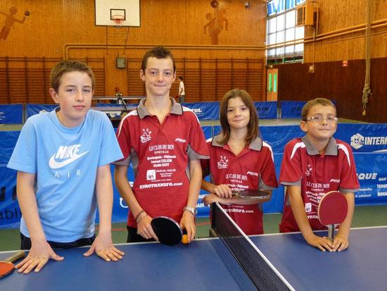 Nos jeunes avant le match contre Pierrepont s/Avre (2009-2010)
