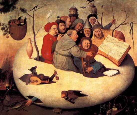 """Hieronymus Bosch, """"Il concerto nell'uovo"""" (inizio XVI secolo)"""