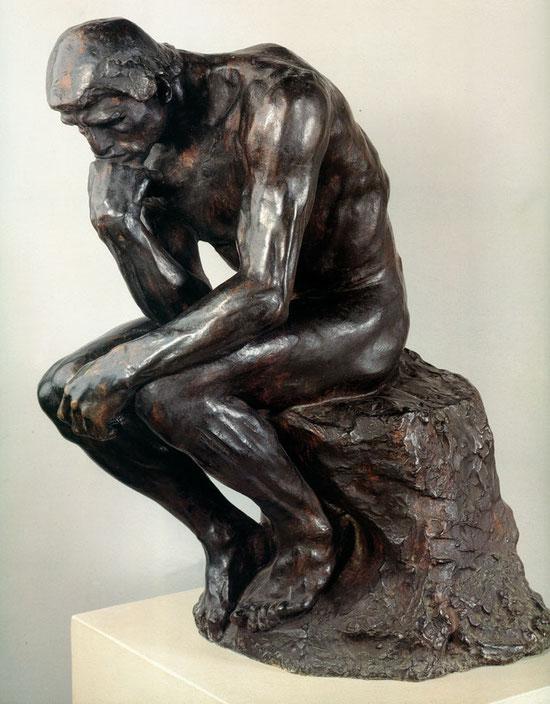 """Auguste Rodin, """"Il pensatore"""" (1902)"""