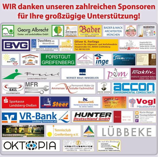 Sponsoren vom Adventsmarkt im Schlosspark Greifenberg 2012