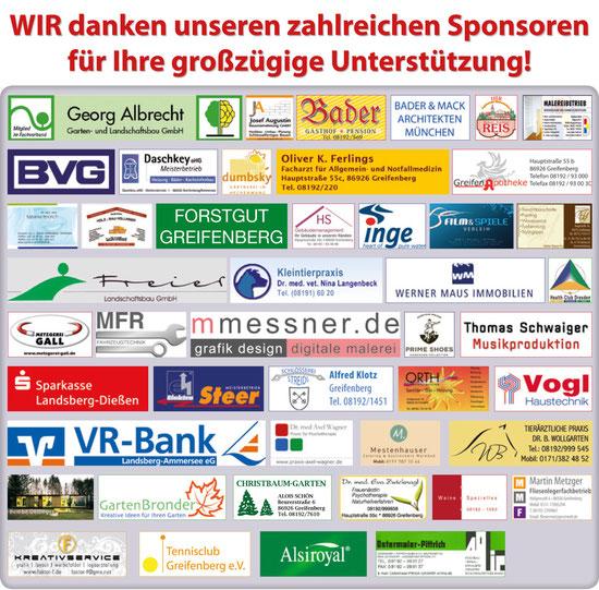 Sponsoren des Adventsmarkt im Schlosspark Greifenberg 2011