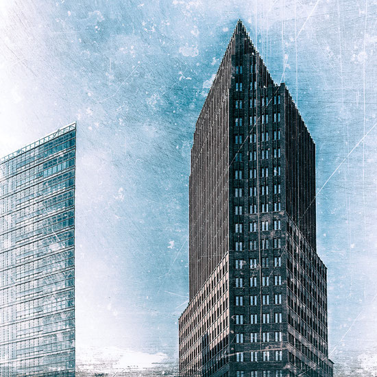 Großstadt III, Acrylglas 60 x 60 cm