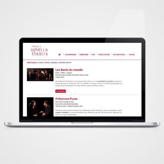 © Clara Chambon - Design site web - Cie Ophélia Théâtre
