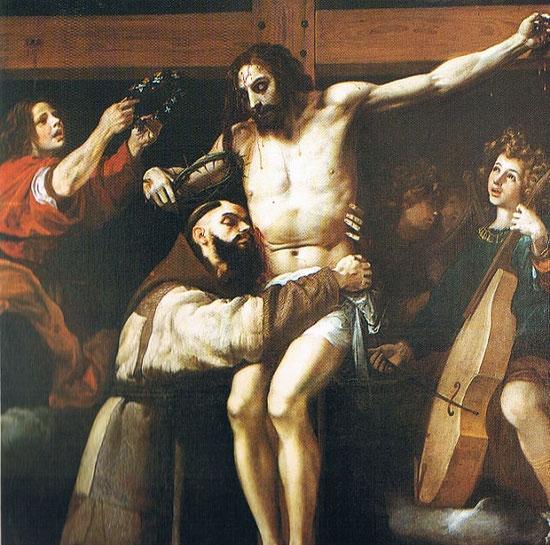 Abrazo de San Francisco al Crucificarlo de Francisco Ribalta-Museo de Bellas artes de València San Pio V.