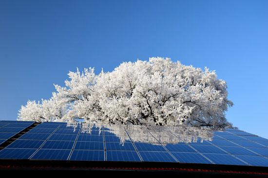 Solaranlage mit Spiegelung