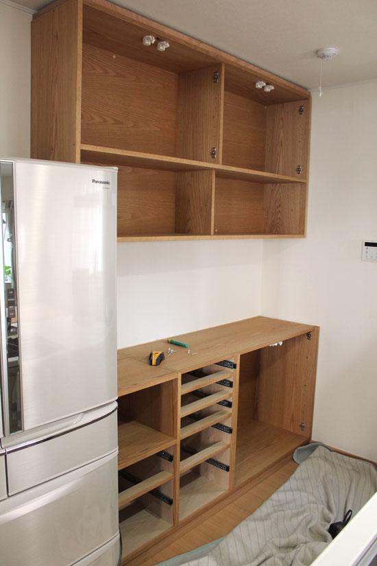 キッチン壁面収納(鎌倉市・M様邸)取り付け工事