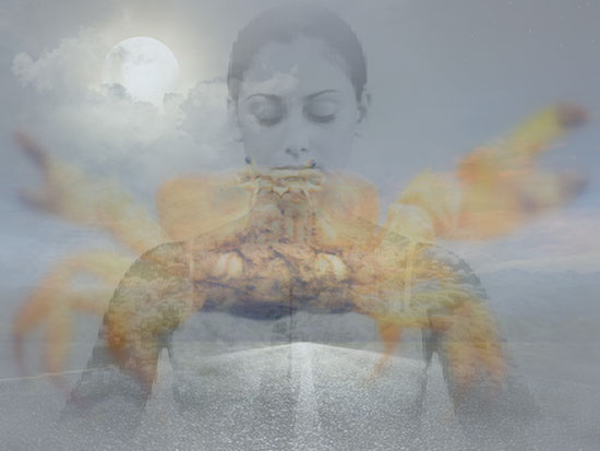 Vollmond Achse Krebs Steinbock Supervollmond Spiritualität Mondritual Meditation