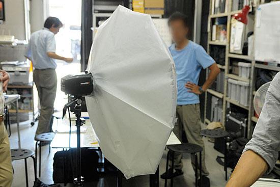 ライティング撮影講習会 傘トレ