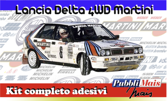 costo prezzo kit completo adesivi sponsor lancia Delta 4wd martini pubblimais online shop rally