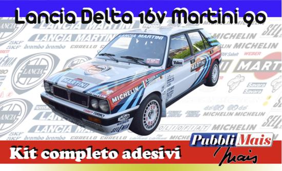 costo prezzo kit completo adesivi sponsor lancia Delta integrale 16v martini pubblimais online shop 1990