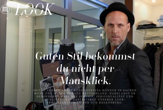 Film Rene Sosnitza René Masskonfektion guter Stil Herrenbekleidung mit Stil Mode für Männer