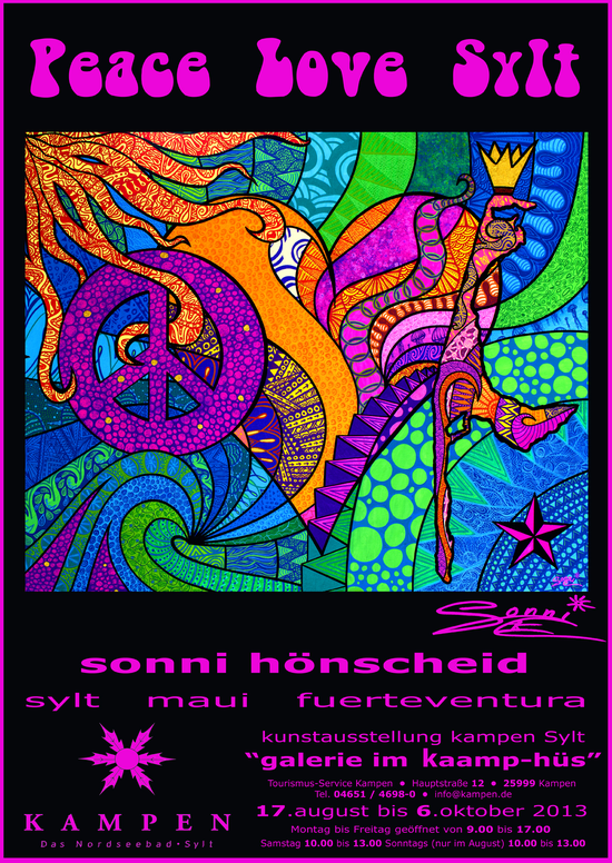 Sonni hönscheid, first art exhibition 2013 in Kampen Sylt