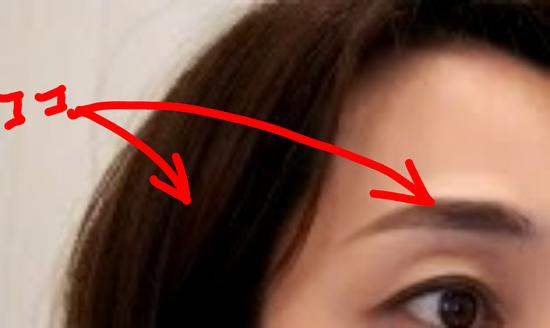 眉とヘアカラーの差に注意