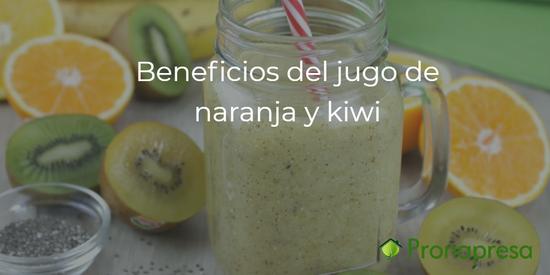 Beneficios del jugo de naranja y kiwi